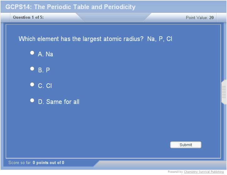 College Chemistry The Periodic Table And Periodicity
